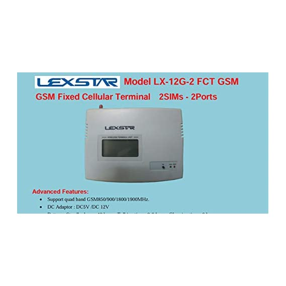 Lexstart Fixed Cellular Terminal, FCT Double Sim with Display, with Two Mother Board,with Power Back Up,Display Terminal