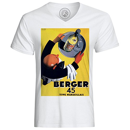 T-Shirt Retro Vintage Posters Berger 45 Commercials Bar Cafe-Terrassen