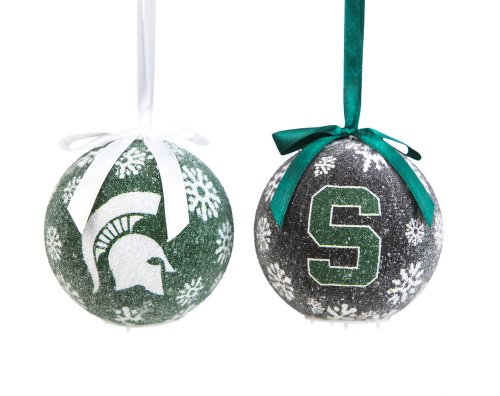 Michigan State Spartans LED Box Set Ornaments