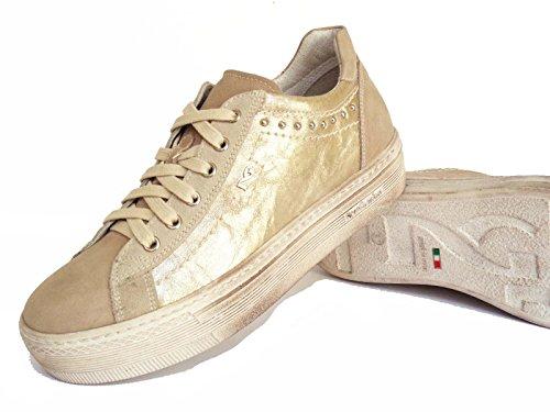 Nero Giardini , Damen Sneaker beige Sabbia/Platino 40