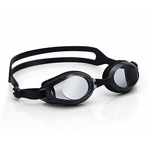 Hullovota Mens Swim Goggles Clear No Leaking Competitive Swimming Goggles for Women Men Youth Kids Girls Boys Adult Anti Fog Uv Protection Triathlon Black Swimming Goggles Mirrored with Case