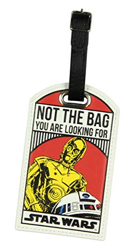 Star Wars Not The Bag You Are Looking For Droids C-3PO/R2-D2 Luggage Travel Tag