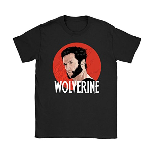 Awesome eMERCHency Wolverine Shirt X-Men Inspired Logan Xmen Womens T-Shirt (Black, L)