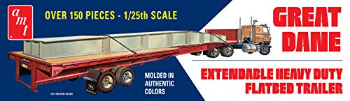 AMT 1111 1/25 Extendable Flatbed Trailer Great Dane (Flat Bed Truck Models)