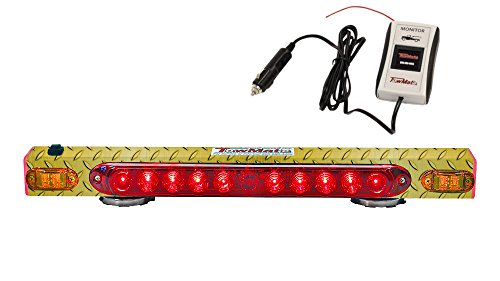 21'' Wireless Tow Light Magnetic Tailing System w/Amber Indicator Yellow Diamond Plate and additional safety strip Hardwire Transmitter w/iMon System