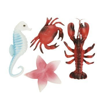 Sea Life Creatures Luau Party Plastic Decor (Pack
