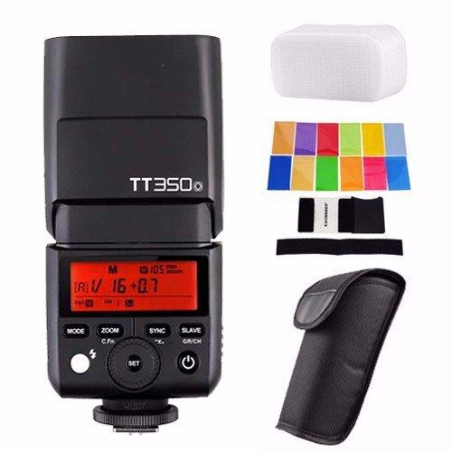 Godox TT350O 2.4G HSS 1/8000s TTL GN36 Camera Flash Speedlite for Olympus / Panasonic Mirrorless Digital Camera w/ EACHSHOT Color Filters