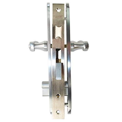 Marks 2750C Satin Chrome US26D Mortise Entry Lever Double Cylinder Thinline Left Hand Plate Trim Lock Set For 1'' Doors
