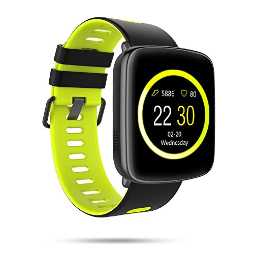 Smart Watch GV68 Waterproof for Android & iOS for Android & iOS Built-In Mic and Speaker, Bluetooth, Sleep & Heart Rate Monitor, Pedometer, Remote Camera Men, Women (Green)