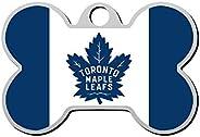 HAOPENGYOU Custom Pet ID Tags Personalized Dog Tags & Cat Tags Bone Shape Toronto Maple Leafs