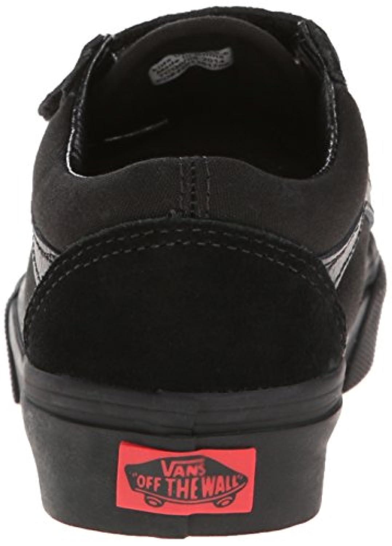 Vans K Old Skool V Pop, Unisex Kids' Hi-Top Trainers, Black (Blk/Blk Enr), 1 UK