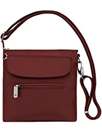 Women's Anti-theft Classic Mini Shoulder Bag Sling Tote, Wine