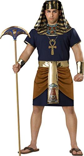 InCharacter Costumes Men's Egyptian Pharaoh Costume, Gold/Blue,