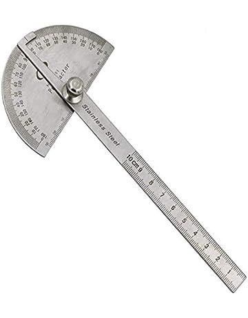 0-180 Degré Rapporteur de bras en acier inoxydable 15 cm Règle angle finder jauge