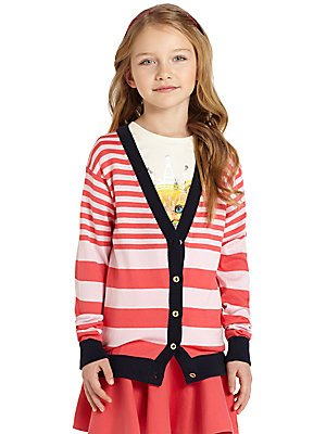 Juicy Couture Girls Cardigan Variety (Large, Pink Lady Punch Stripw)