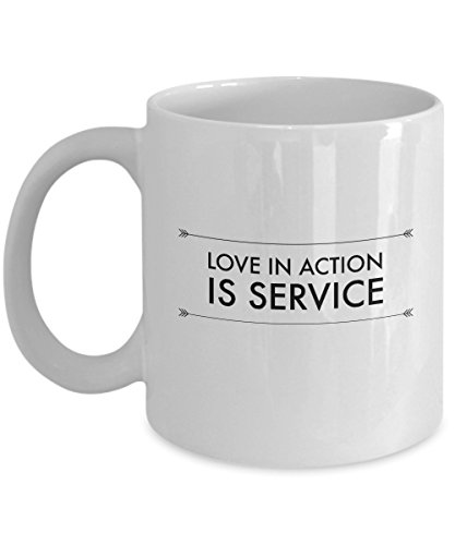 Godiva Love (Gifts Mug - Love in action is service - godiva mug gift set - Inspirational and sarcasm)