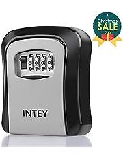 INTEY Key Safe Box with 4-Dight Key Box Key Cabinet Wall Mounted Key Lock Box to Storage Spare Keys