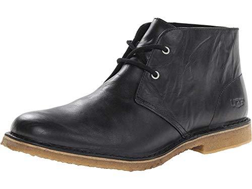 UGG Men's Leighton Chukka Boot, Black, 10 3E US (Ugg Mens Boots Black)