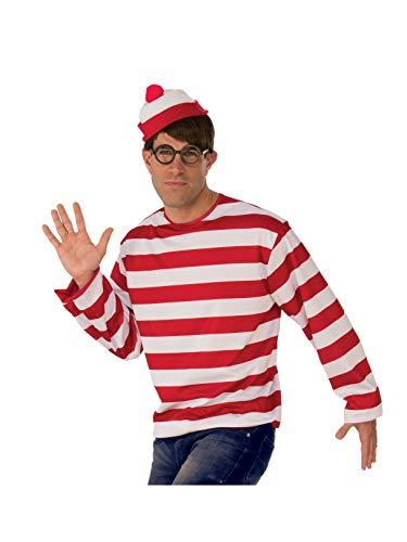 Rubie's Unisex-Adults Where's Waldo Hat, As shown, -