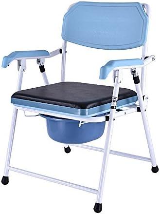Cqq Badestuhl Zusammenklappbarer Toiletten-Leichter Aluminiumbadezimmer-Toilettensitz-Sitz/Unfähigkeit mit Oben leichtem älterer Mobilitäts-Hilfskommode-Stuhl
