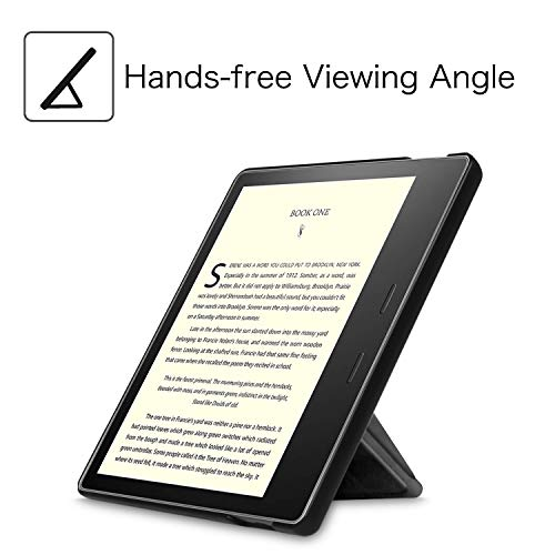Fintie Origami Case for All-New Kindle Oasis (10th Generation, 2019 Release and 9th Generation, 2017 Release) - Slim Fit Stand Cover Support Hands Free Reading with Auto Wake Sleep, Black