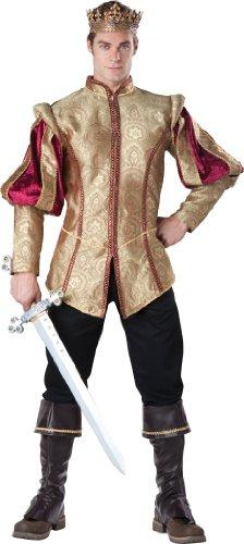 [InCharacter Costumes Men's Renaissance Prince Costume, Gold/Red, Medium] (Men Renaissance Costumes)
