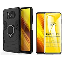 Capa Anti Impacto Ring Xiaomi Poco X3+ Película De Vidro 9d