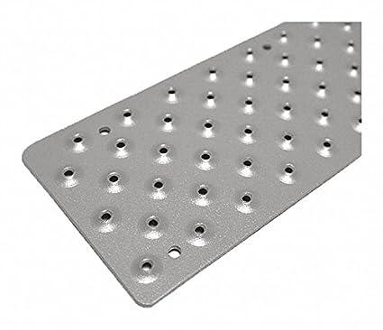Gray, Aluminum Stair Tread Cover, Installation Method: Fasteners