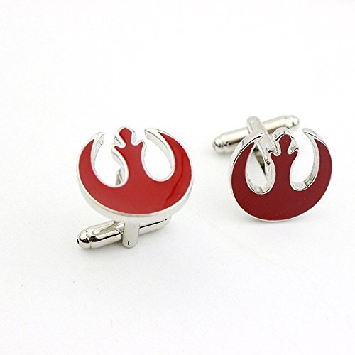 Af Cufflinks : Star Wars Red Enamel Alliance Starbird Cufflinks Shirt Brand Cuff links ()
