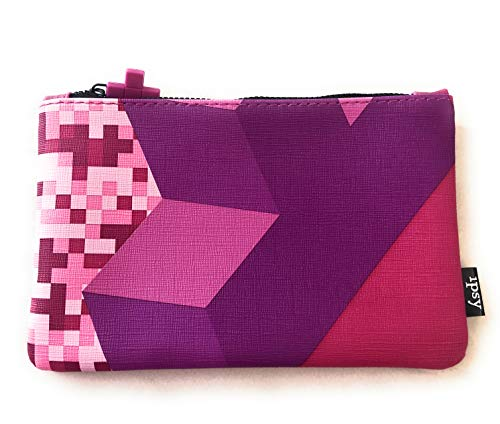 Ipsy Tetris Makeup Cosmetic Bag Several Colors Available (Purple)