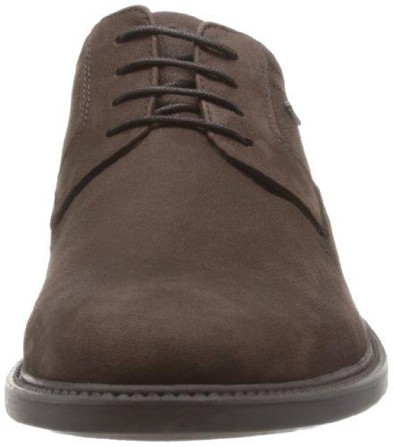 Clarks - Zapatos de Cordones de cuero nobuck Hombre Marrón (Dark Brown Nub)