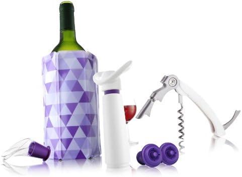 Vacu Vin Wine Essentials Gift Set – White Purple