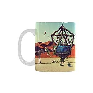 Zebra Bird in Desert Personalized Funny Healthy Ceramic Classical White Mug, Coffee,Water,Tea Cup for Women/Men