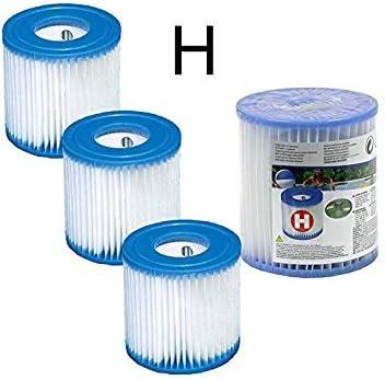 Lote de 4 cartuchos de filtración Type H Intex para bomba de filtro modelos 28601 y