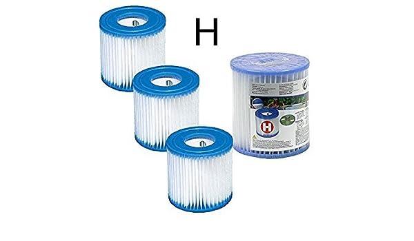 Lote de 4 cartuchos de filtración Type H Intex para bomba de ...