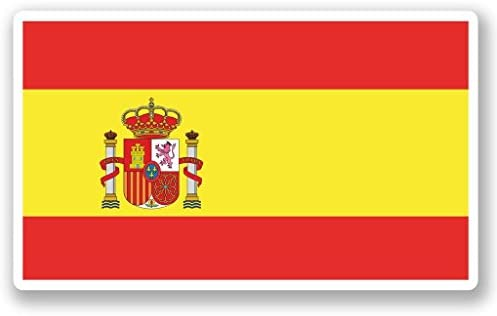 2 x 10cm/100 mm España Bandera españolaAdhesivo para ventana ...