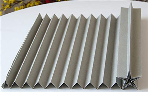 Miao Express Creative Corrugated Paper Wedding Background Decoration Wedding Scene Layout Props Origami Modeling Paper Window Wavy Paper,Gray ()