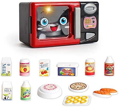 JEJA Pretend Juego de Cocina para niños de - Horno de microondas ...