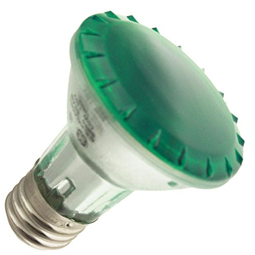 Industrial Performance 50PAR20/H/SP10-TG 130V, 50 Watt, PAR20, Medium Screw (E26) Base Green Light Bulb (1 Bulb) ()