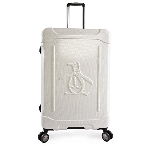 """ORIGINAL PENGUIN Luggage Clive 29"""" Hardside Check in Spinner, White"""