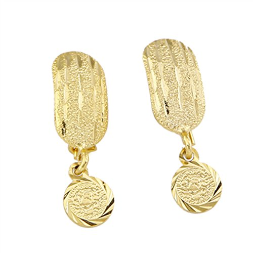 Price comparison product image African Coin Earrings For Women Girl Gold Color Dubai Metal Earrings Jewelry