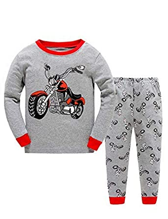 e5539dcecc96 Boys Christmas Pyjamas Set Toddler Kids Cars Train Truck Print Pjs ...