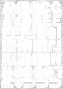 """Square White Alpha Sticker Sheet - 8.25"""" x 5.75"""""""