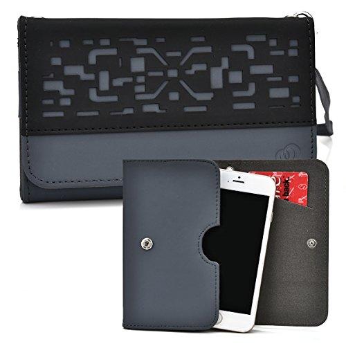 Plum Sync 4.0b, Axe Plus, Check Plus, Posh Pegasus 4G Case | Davy's Grey Lazer Two-Tone Bifold Wallet