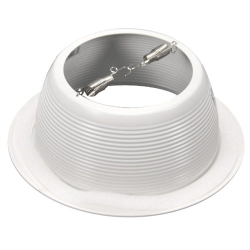 "6"" Inch White Baffle Recessed Can Light Trim Replaces Halo 310 W Juno 24W-WH - 48 Pack by Four-Bros Lighting (Image #2)"