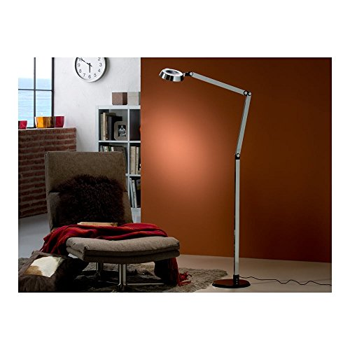 Schuller Spain 397960I4L Modern Chrome Adjustable Floor Lamp black 1 Light Living Room, bed room, Study, Bedroom LED, Adjustable Chrome Floor Lamp | ideas4lighting by Schuller