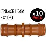 Suinga. ENLACE GOTEO MARRON 16MM. Unión para tubo de goteo diámetro 16 mm.