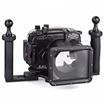 EACHSHOT 40m/130ft Underwater Diving Camera Housing for Fujifilm X-A1 (16-50mm ) + Two Hands Aluminium Tray