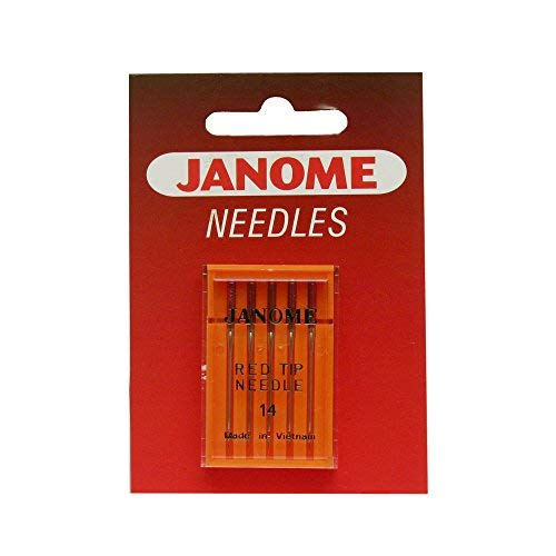 Janome Red Tip 5 Needle Pack Size 14 ()