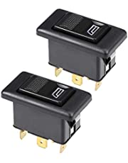 uxcell® 5 Pins Car Window Switch Car Control Master Rocker Switch Momentary Glass Lifter Switch DC 12V 2pcs